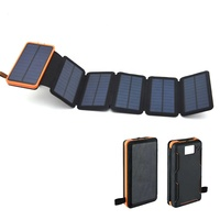 NEW fashion Foldable Waterproof Solar Power Bank 20000mah Portable Solar smartPhone Charger outdoor power bank mobile power
