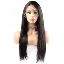 Cheap Human Hair straight Wig For African American Straight long Lace Front Human Hair Wig For Black Women