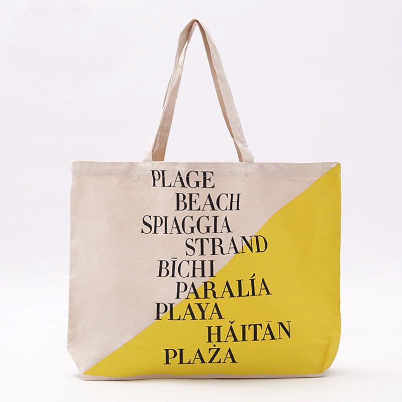 2020 Top Quality Canvas cotton tote bag big shopping bag OEM Custom printing reusable and Eco-friendly