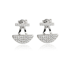 Zirconia Jewelry Earrings Trendy Earrings 925 Sterling Silver Cubic Zirconia Stud Jewelry Earrings Geometric Trendy Earrings