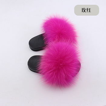 child fur slippers winter shoes big size home slippers plush pantufa child indoor warm fluffy terlik cotton shoes
