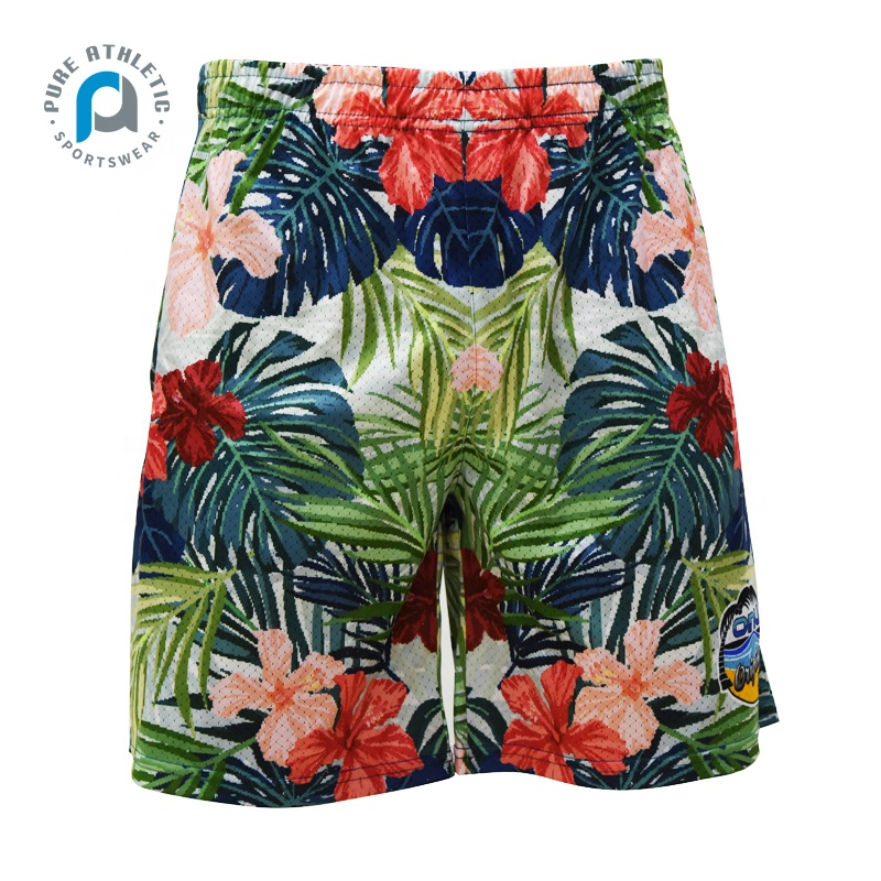 Pure china fabriek OEM sublimatie afdrukken mannen badmode/beachwear/board shorts fabrikant china