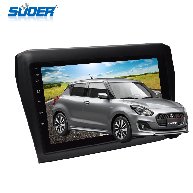 9 pollici Android 8.1 Car Stereo Radio Video Lettore DVD Con 3G GPS Bluetooth Opzionale Quad core Player Per SUZUKI SWIFT 2017-2019