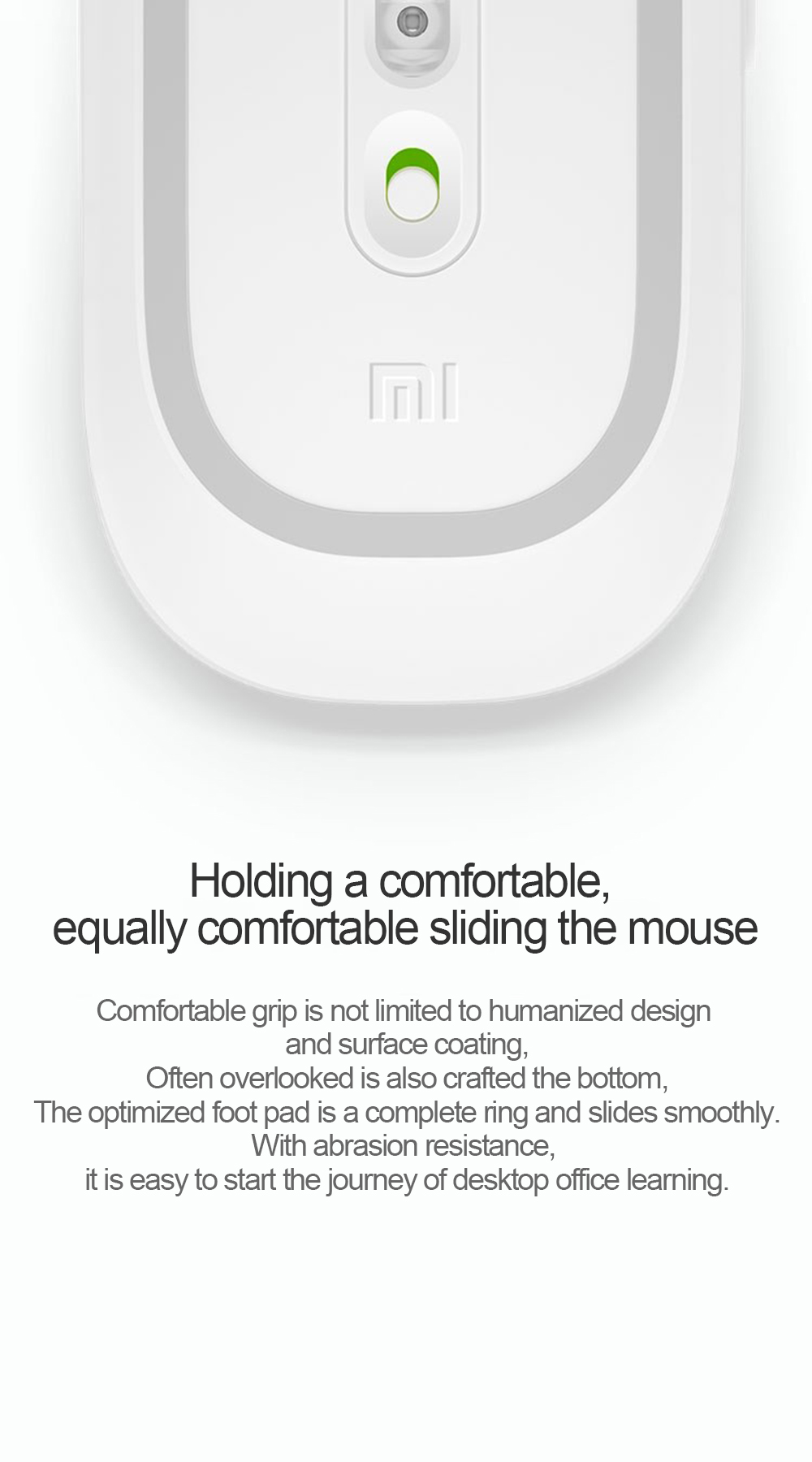 MI wireless mouse mute silent notebook desktop computer mouse wireless mouse