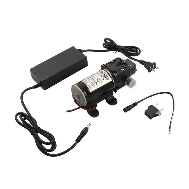 Reflux High Pressure Water Pump DC 12V Spraying Pressure Pump-100W-Black
