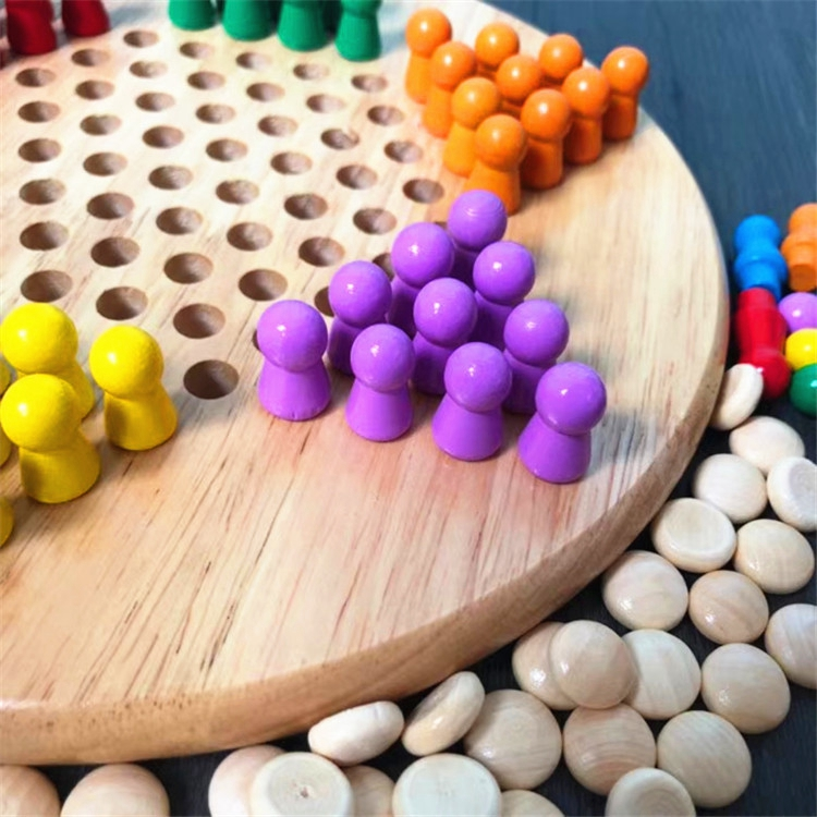 Hot Selling Colorful Wooden Ludo Chess Board Games Set for Outdoor