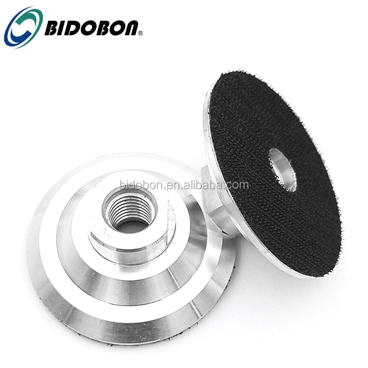 "Wholesale  4inch M14/5/8""-11 Aluminum backer pad for diamond polishing pads"