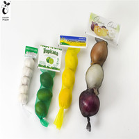 Biodegradable Carry Corn garlic/ginger/onion/potato Tote String Bag Organizer, Sturdy Mesh Produce Bag