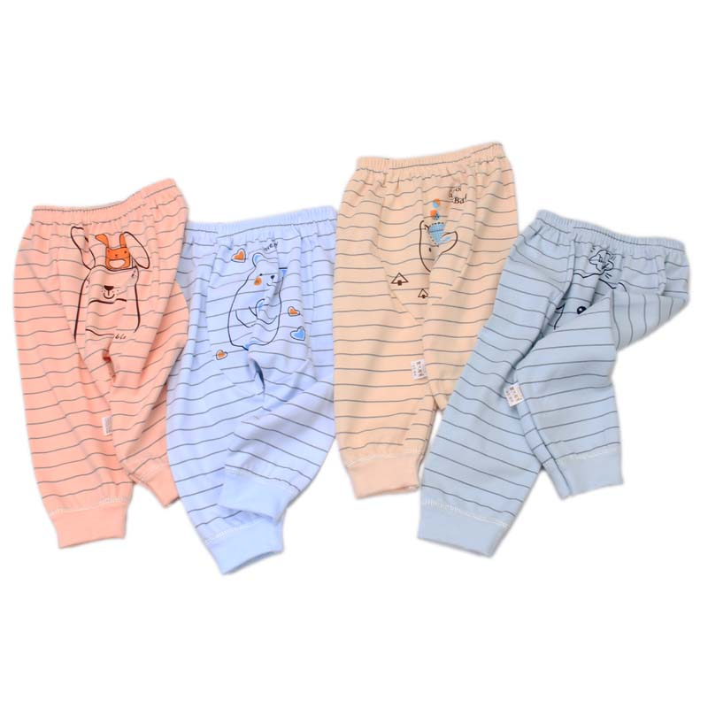 Spring and autumn high quality 100% organic cotton 0-3-year-old boys' and girls' pants anti-static and breathable Harem Pants