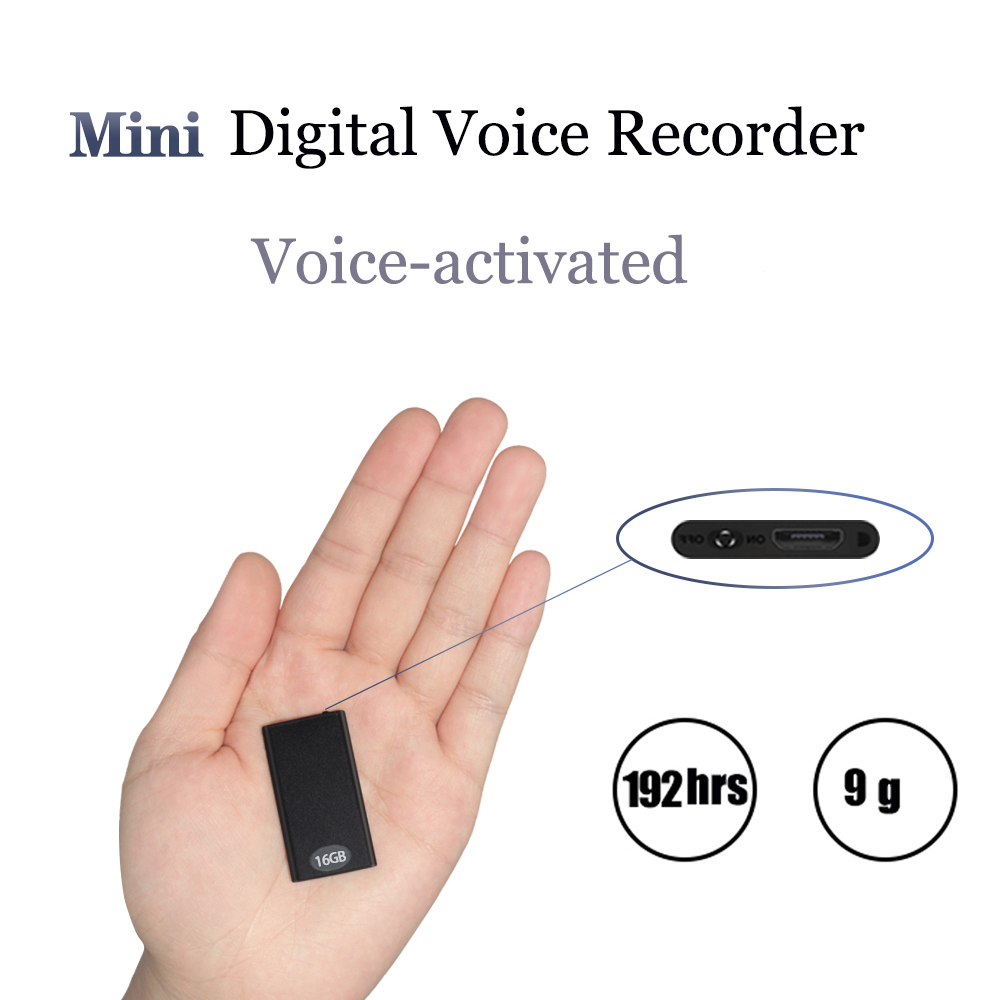 QZT Best selling portable Mini digital voice recorder mp3 player with 8G memory