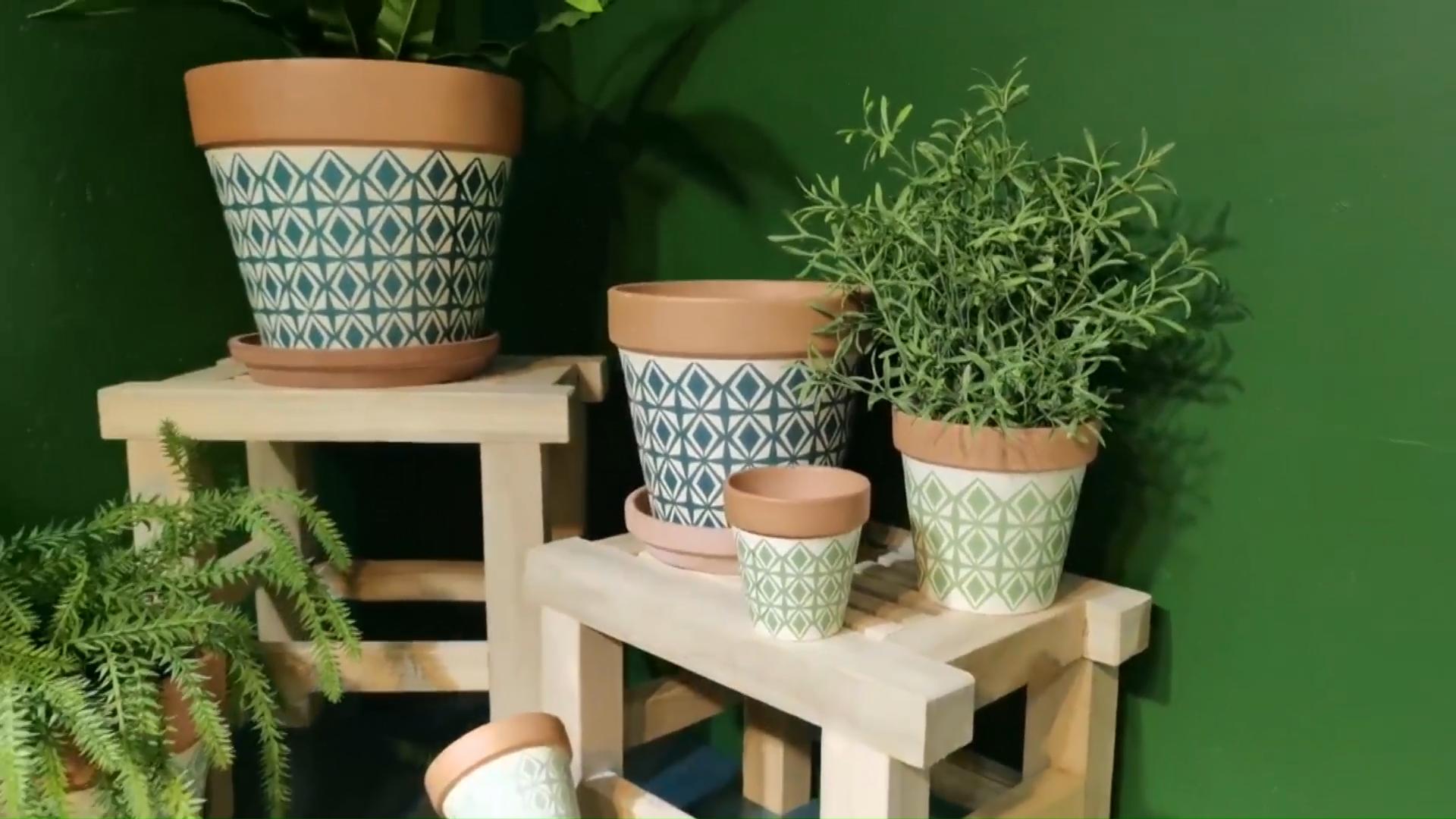 Home garden terracotta orchid planter pots / modern simple home decoration ceramic flower pot