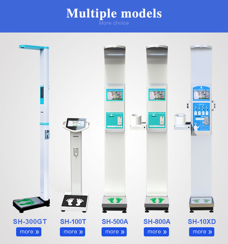 Ultrasound Measure Body Height and Weight Electrical Scale Bluetooth Weighing Balance Scales for Schools