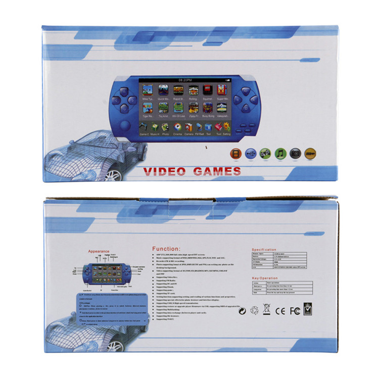 X6 4.3 inch Video Game Console Handheld 8G Memory Game Machine Game Player