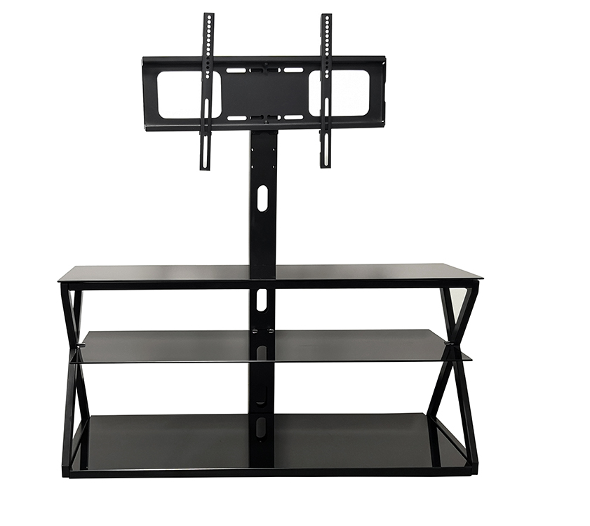 Latest Design Luxury Bedroom Living Room Furniture Metal Frame Tempered Glass Modern TV Stands Sale