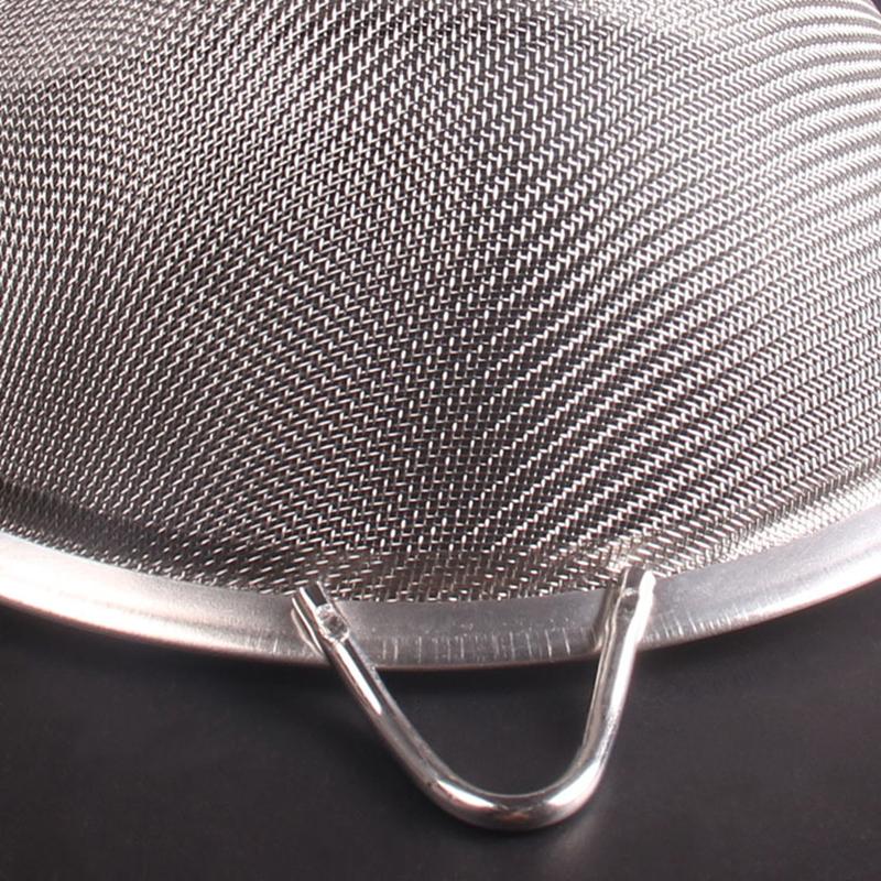 Stainless Steel Flour Sifter Sieve Stainless Steel Fine Tea Mesh Strainer Colander Wire Mesh Oil Filter Strainer