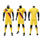 2019 Fashion Wear Kids SoccerJersey Blue Yellow Soccer Jersey Uniform For Football Club