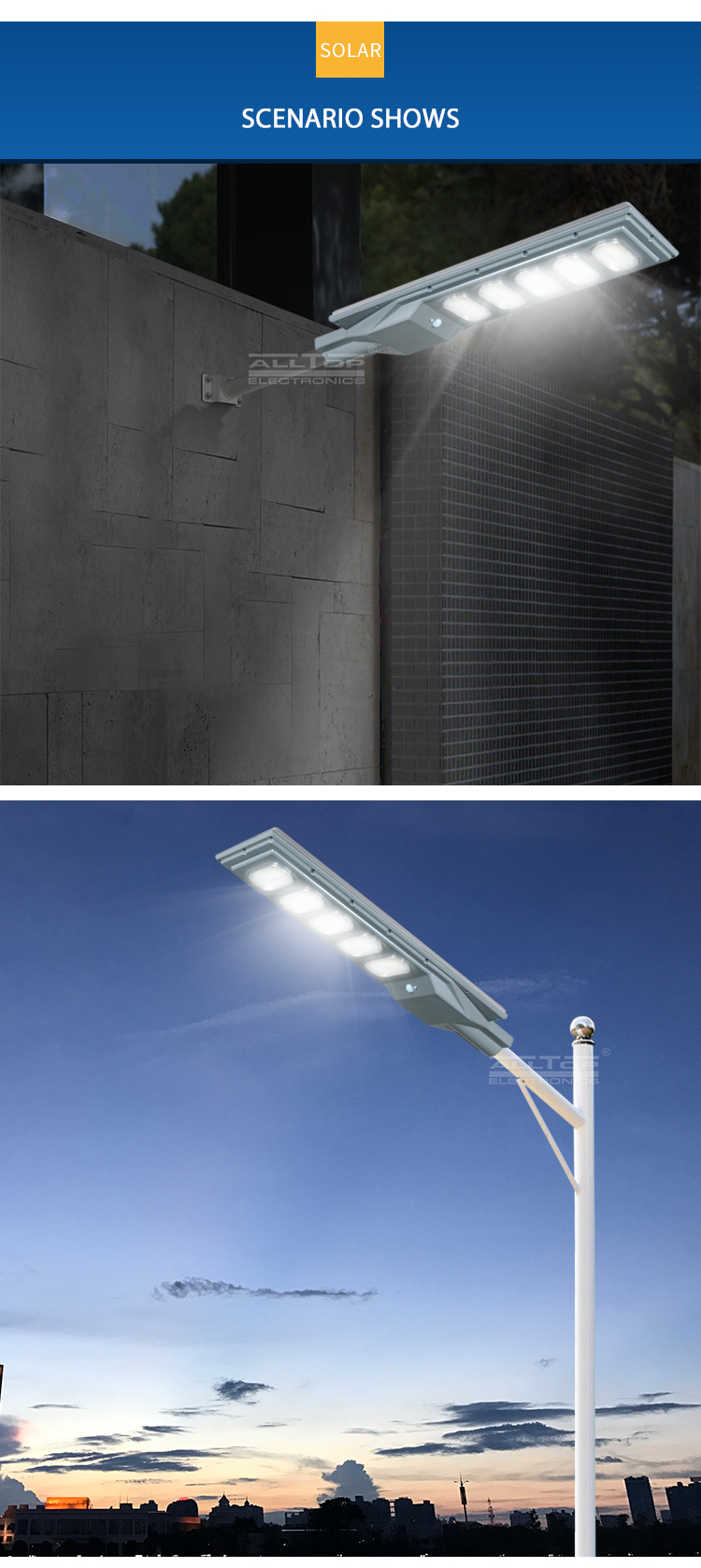ALLTOP solar street light with panel and battery best quality manufacturer-9