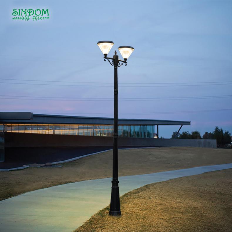 2019 NEW DESIGN stylish diamond-shaped solar led outdoor garden pole light