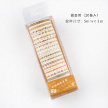 Journamm 5 мм * 2 м * 20 шт цветные ленты Janpaese Journal delimacy Styling Bullet Journal stiling staper Journal stiling Scrapbooking Deco маскирующие ленты(Китай)