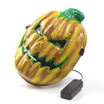 Halloween LED Pumpkin Lamp Mask EL light LED Masquerade With 3 Flash Modes for Christmas Carnival Carnival Party LED Mask