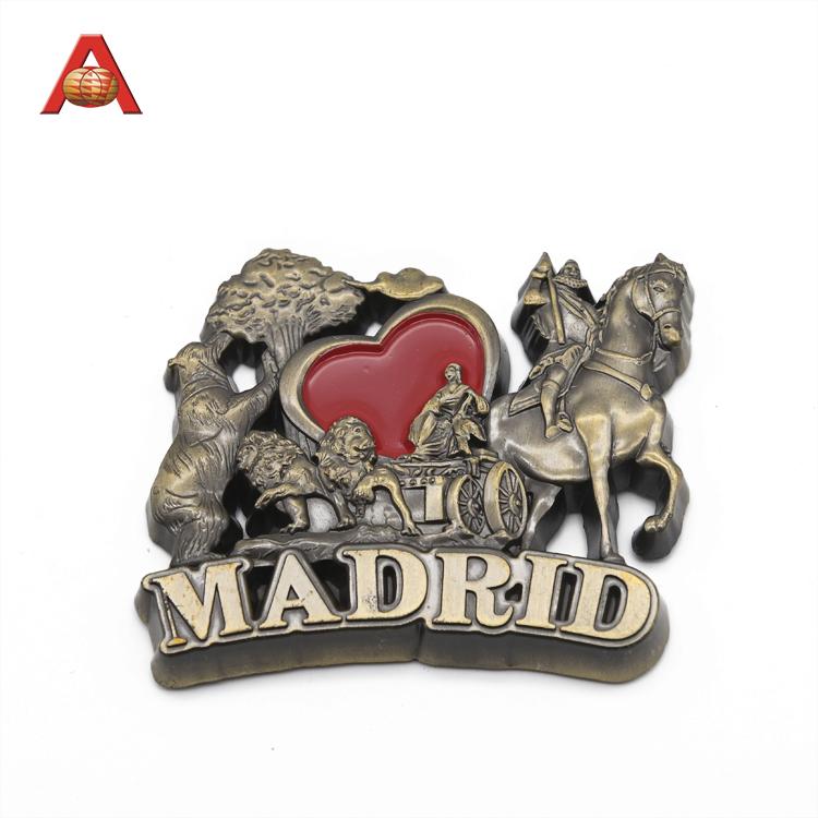 Custom Cheap Specialized Manufacturer Metal Logo Fridge Magnet