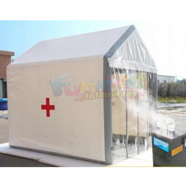 Outdoor decontamination tent mobile inflatable medical disinfection tunnel