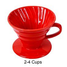 Керамическая капельница для кофе V60, стильный капельный фильтр для кофе, чашка для перманентного залейте кофеварка с раздельной подставкой ...(Китай)