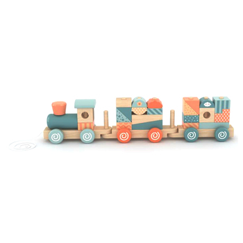Sell Well Woodentoy Stacking Train Educational Wooden Toy Train