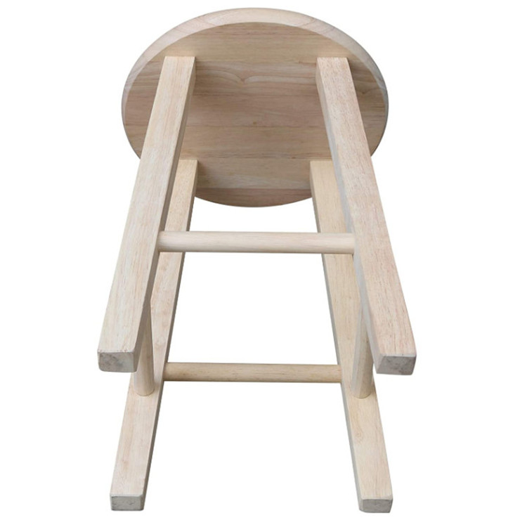 Cheap high quality unfinished Eco friendly Multifunctional durable solid wood stool vintage