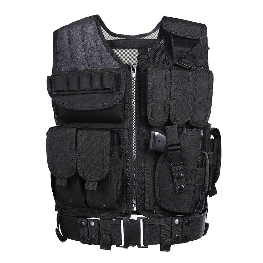 Black Waterproof Tactical military_bulletproof_vest