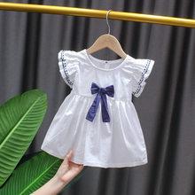 Платья для маленьких девочек нарядное и Свадебное летнее милое платье с кроликом для маленьких девочек клетчатое красное/Розовое празднич...(China)