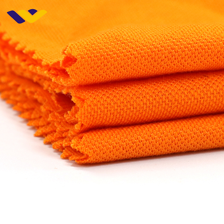 High density sport <strong>knit</strong> fabric, 100% combed <strong>cotton</strong> stretch pique polo t-shirt soft jersey fabric, garment <strong>knitting</strong> fabric stock