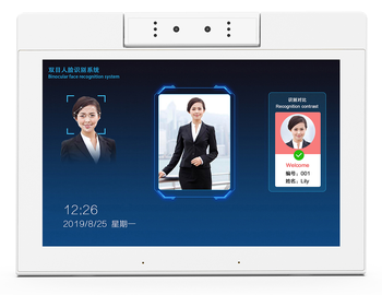 Install your own software and Binocular face recognition system 10.1inch L-Type Digital Signage android8.1 tablet