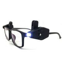 Mini Eyeglass LED Light Eye Glasses Clip lamp Universal Adjustable Fishing Reading Lights