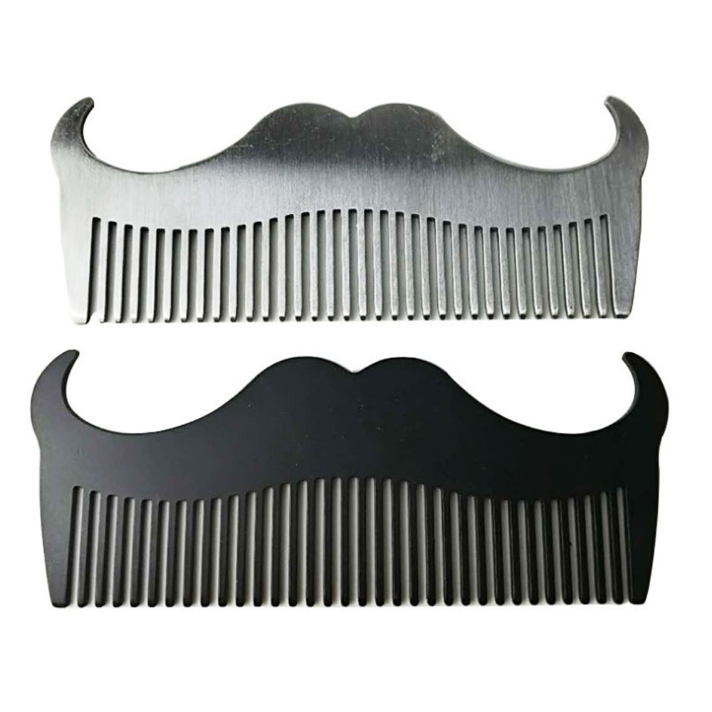Hot Sale Stainless <strong>Steel</strong> Beard <strong>Comb</strong> Anti-static Mustache Brush magic <strong>hair</strong> <strong>comb</strong>