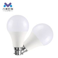 Energy saving indoor plastic 3w 5w 7w 9w 12w 15w 18w 22w e27 b22 led bulb lamp
