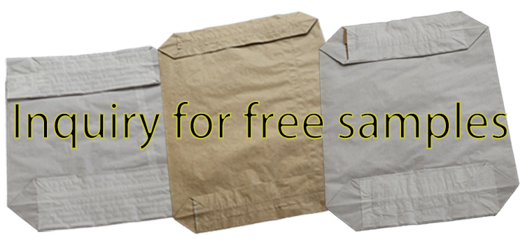 25kg 50kg industrial valve brown packing cement paper bag with kraft paper