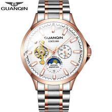 GUANQIN 2020 деловые часы, мужские автоматические светящиеся часы, мужские турбийоны водонепроницаемые механические часы, топ-бренд, мужские час...(Китай)