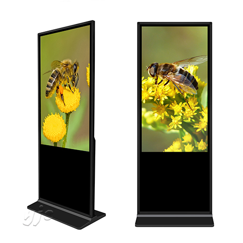 Super Slim 43 Floor Standing Polegadas Lcd Touch Screen Tv Digital Jogador Publicidade Display