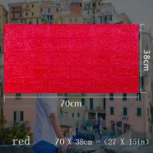 70x38 см 3D стикер на стену s самоклеющийся пенопластовый кирпич для декора комнаты DIY 3D обои для декора стен Жилая Настенная Наклейка для детск...(Китай)