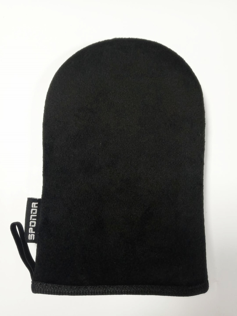 Dual side applicable Streak-free waterproof Tanning applicator mitt for spray tan lotion cream