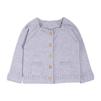 2019 Fall Winter Custom design 100% cotton stylish sweater kids knit cardigan Coat for baby girls