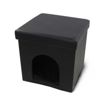 Hstex italia in pelle nera pieghevole pet bed