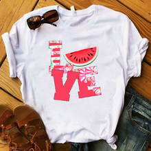 Женская футболка с изображением ананаса и фруктов, модная футболка с графическим рисунком, женская футболка, женская одежда Kawaii Camisas Mujer(China)