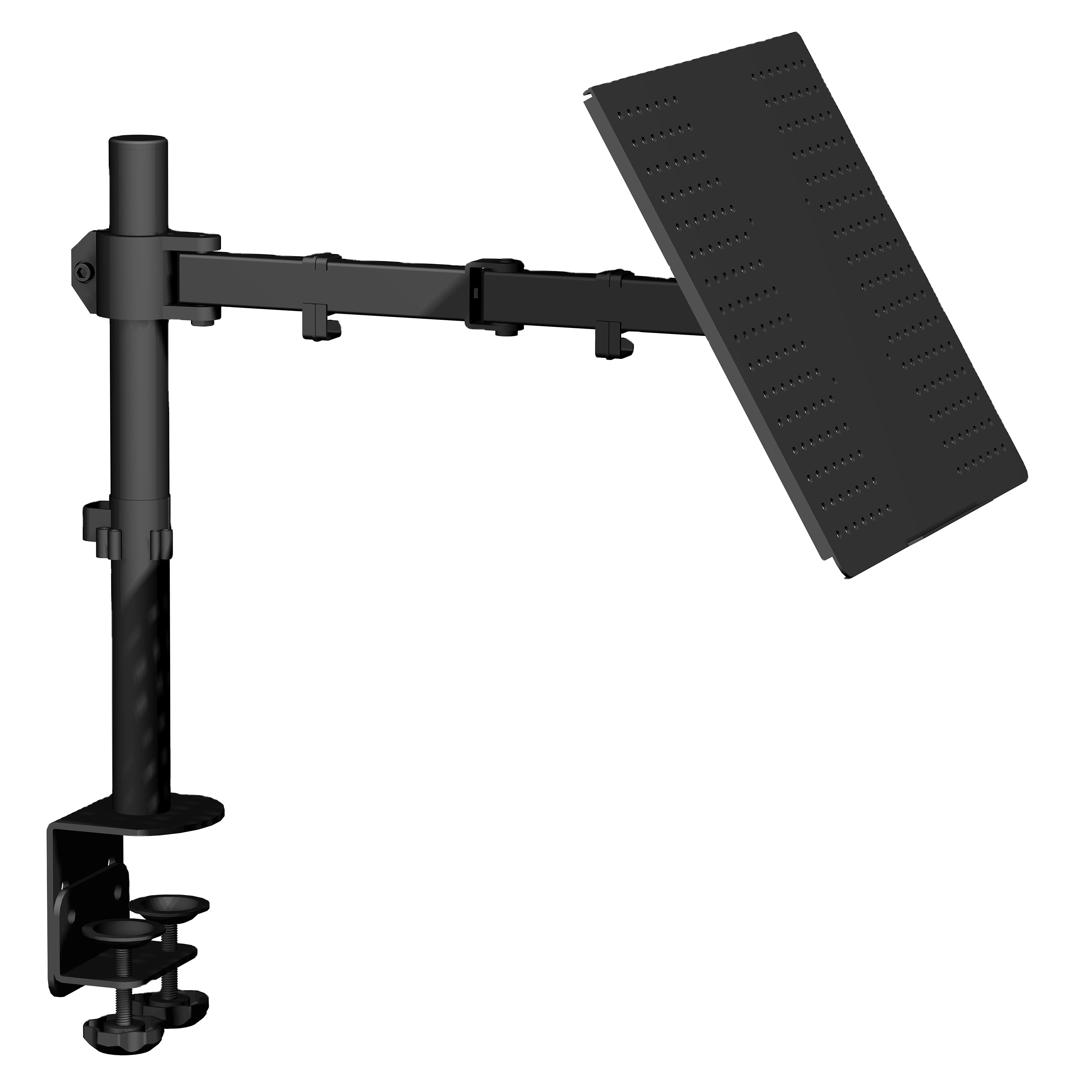 Hot selling Adjustable Single Lcd Monitor Mount Arm with Laptop Notebook Adaptor