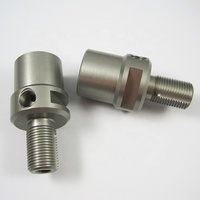 China OEM CNC machining custom fabricated aluminium hard anodizing medical equipment Hydraulic Fittings