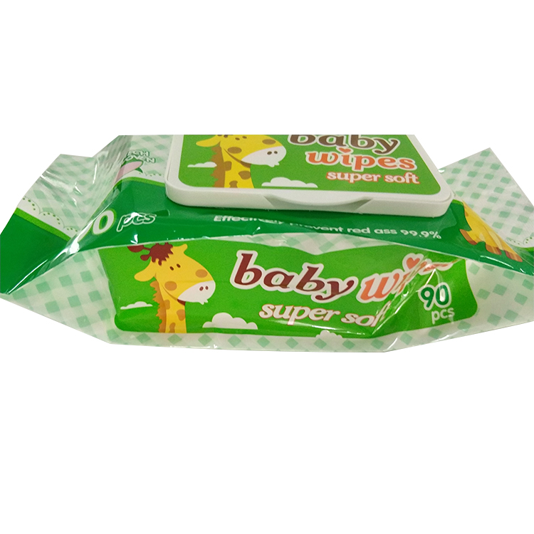 Baby wet tissue plastic packaging soft baby wipes pouch
