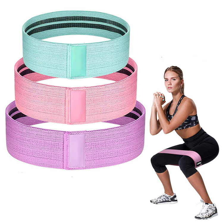 Customized Logo Yoga Exercise Gym Elastic Hip <strong>Fitness</strong> Band