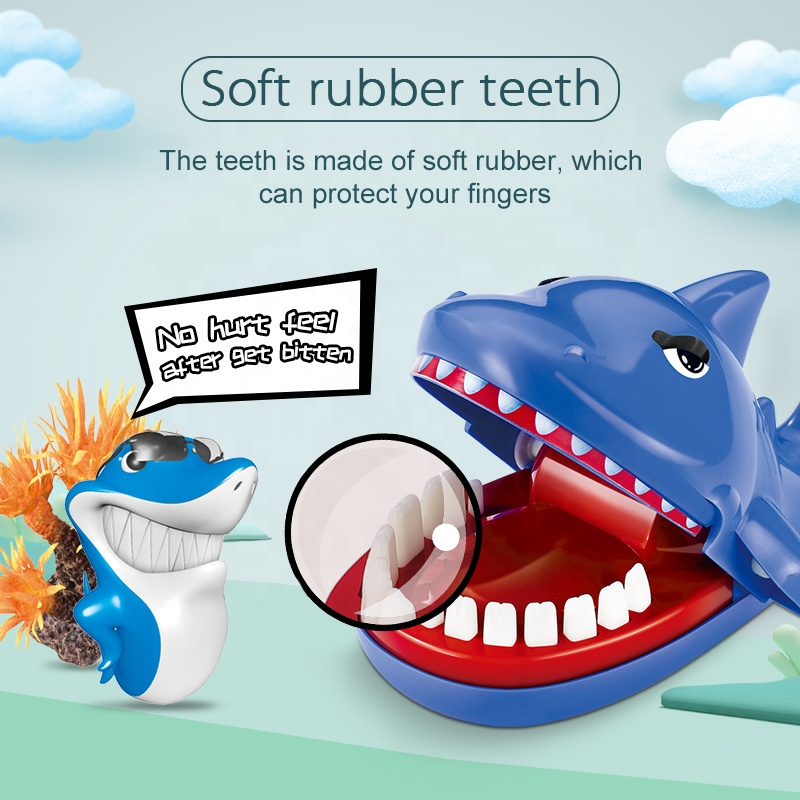 Plastic Funny Crocodile Tricky Toys With Soft Rubber Press Tooth Big Mouth Animal Biting Finger Dentist Game Prank Toys For Kid