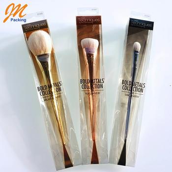 custom cosmetic makeup brush set plastic packaging  buy